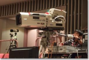 放送用機材を使用しての撮影